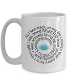 Beautiful Life Lesson Gift Mug - Ceramic with Lotus Flower