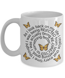 Life Lesson Ceramic Mug with Butterflies