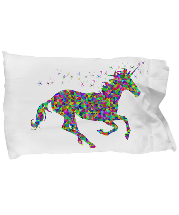 Unicorn Colorful Kaleidoscope Super Soft Pillow Case
