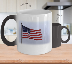 Patriotic American Flag 11 oz Magic Mug!