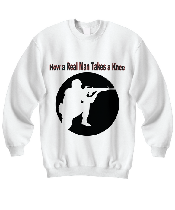 Patriotic American Soldier or Veteran Statement Sweatshirt