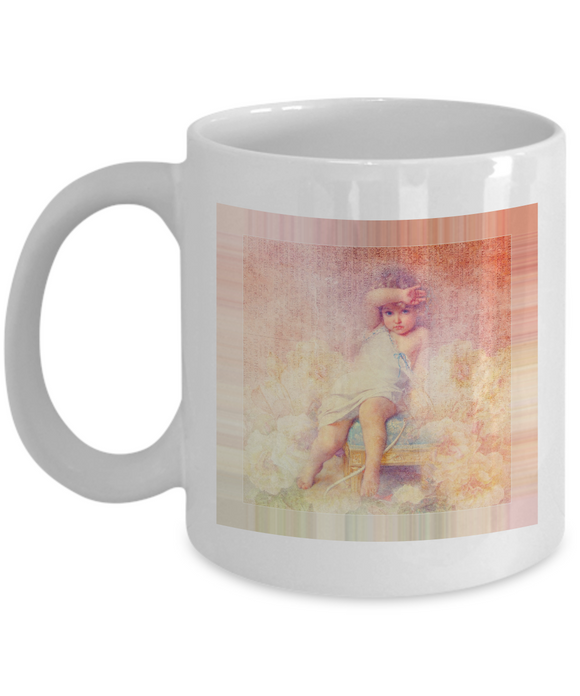 Vintage Victorian-Style Nostalgic Child Angel Cherub Custom Design Ceramic Mug