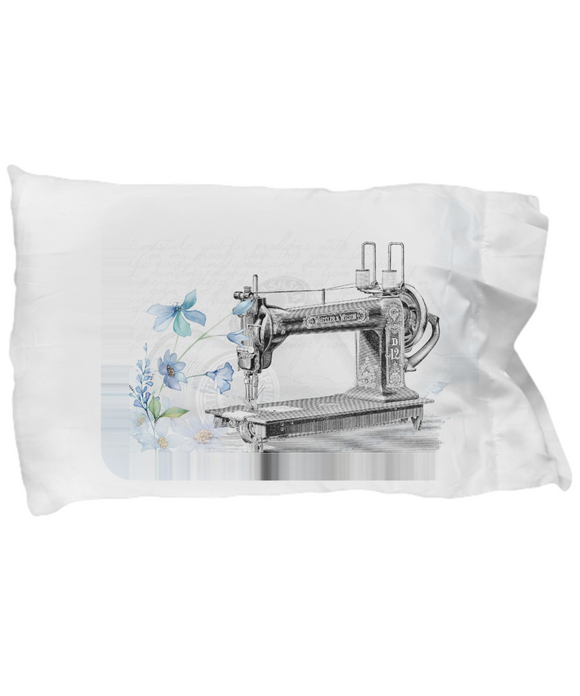 Vintage Antique Sewing Machine Pillow Case
