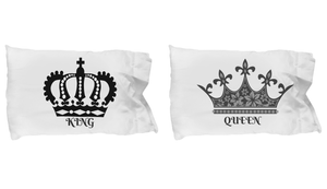 King and Queen - Matching His and Hers Super-Soft Pillow Cases