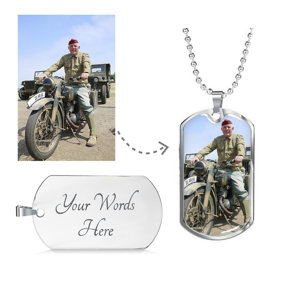 Create a Personalized Dog Tag Just for Your Dad or Grandpa - Perfect Gift in Gold or Silver Finish