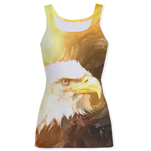 American Bald Eagle Print Fashion Tank Top