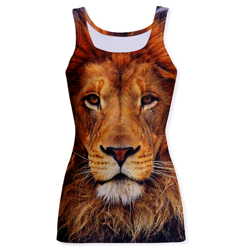 Lion Print Fashion Tank Top