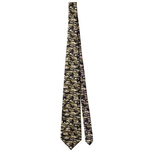 Dogs Camouflage Brown Neck Tie