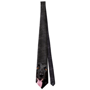 Dog Black Lab Neck Tie