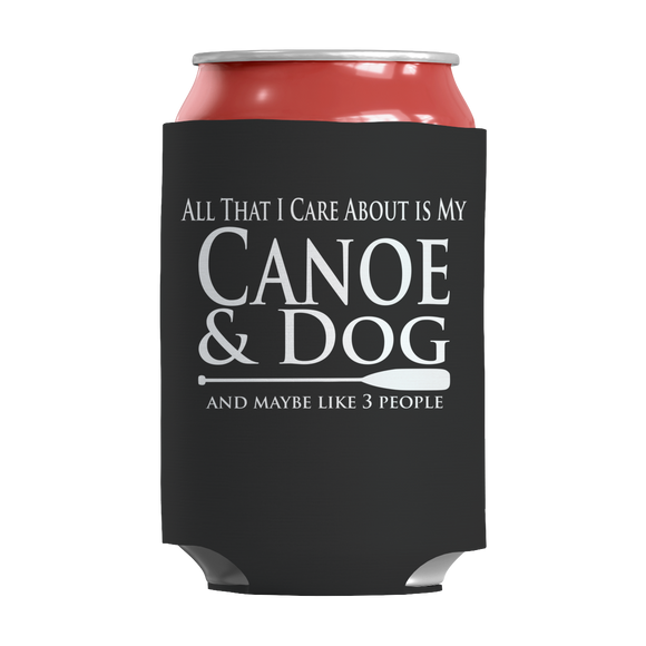 Canoe and Dog Funny Insulated Neoprene Can Wrap