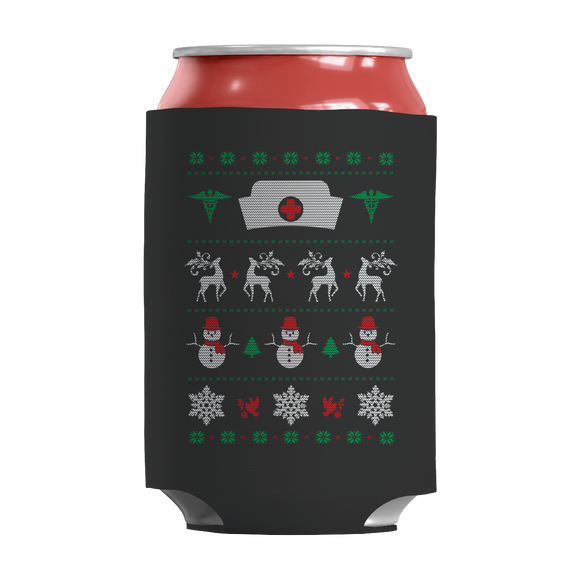Nurse Christmas Insulated Neoprene Can Wrap - Limited Edition