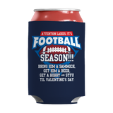 Funny Football Insulated Neoprene Can Wrap