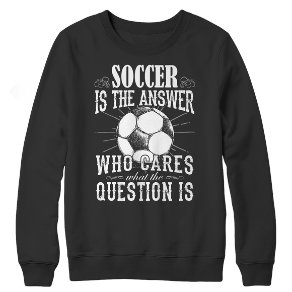 Soccer Fan Crewneck Fleece Sweatshirt