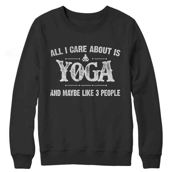 Yoga Funny Crewneck Fleece Sweatshirt