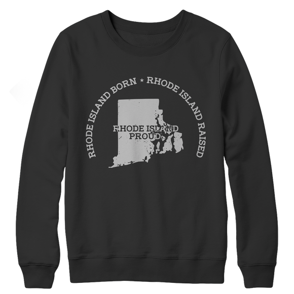Rhode Island Proud Crewneck Fleece Sweatshirt