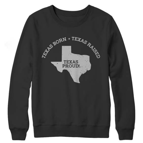 Texas Proud Crewneck Fleece Sweatshirt
