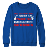 Police Officer Grandpa Crewneck Fleece Sweatshirt