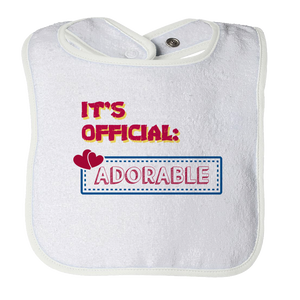 It's Official: Adorable - Cute Baby Bib