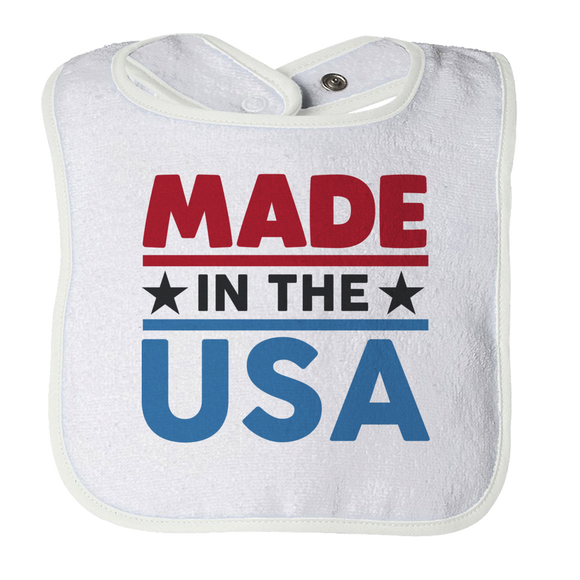 Made In The USA - Patriotic Baby Bib