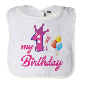My First Birthday - Baby Bib