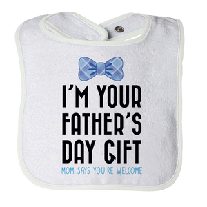 Funny Father's Day Bib for Baby Boy