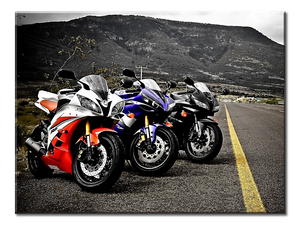 Motorcycles Canvas Wall Art 1-panel 24 x 18 inches