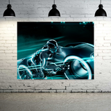 Futuristic Motorcycle Canvas Wall Art - Extra Large 1-panel 40 x 30 inches