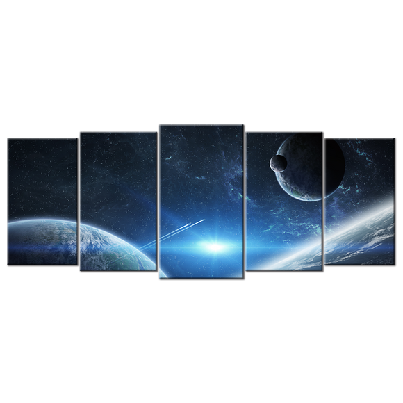 Marvel at the Cosmos Canvas Wall Art - Large 5-panel 72 x 32 inches