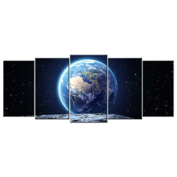 Dazzling View of Mother Earth Canvas Wall Art - Large 5-panel 72 x 32 inches