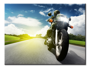 Motorcycle Canvas Wall Art - 1-panel 24 x 18 inches