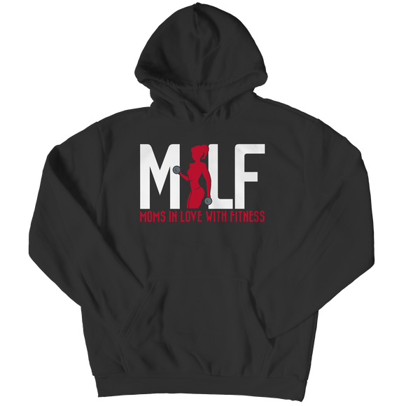 MILF Moms In Love With Fitness Fleece Hoodie