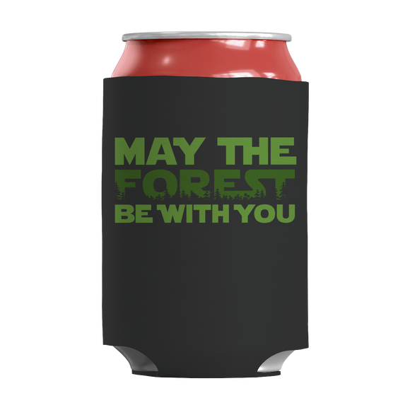 Camping Hiking - May The Forest Be With You Funny Insulated Neoprene Can Wrap