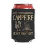 Camping - Good Friends Around A Campfire Insulated Neoprene Can Wrap