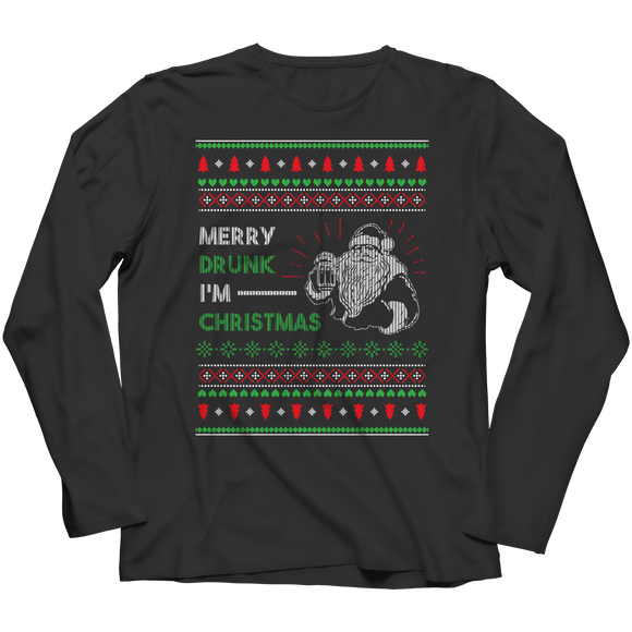 Drunkmas Funny Ugly Christmas Long Sleeve Shirt