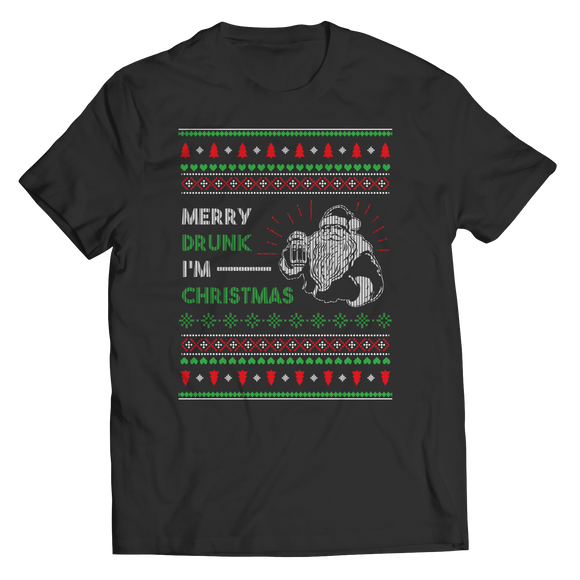Drunkmas Funny Ugly Christmas Unisex T-Shirt