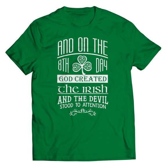 God Created The Irish T-Shirt