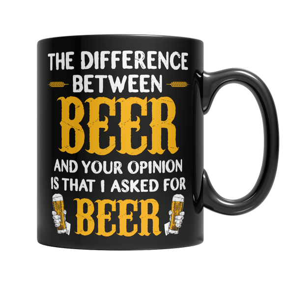 Funny Beer 11 oz Black Ceramic Mug