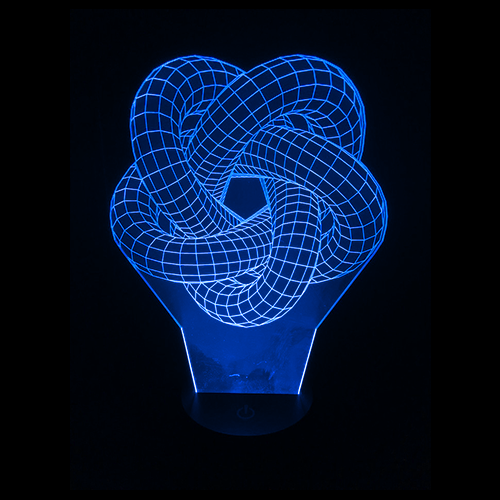 Fractal Torus Knot LED Night Light/Lamp