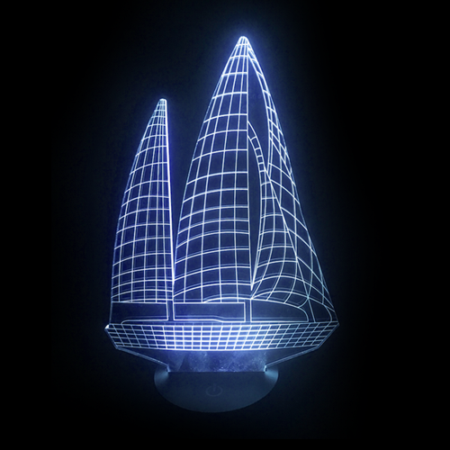 Sailboat LED Night Light/Lamp