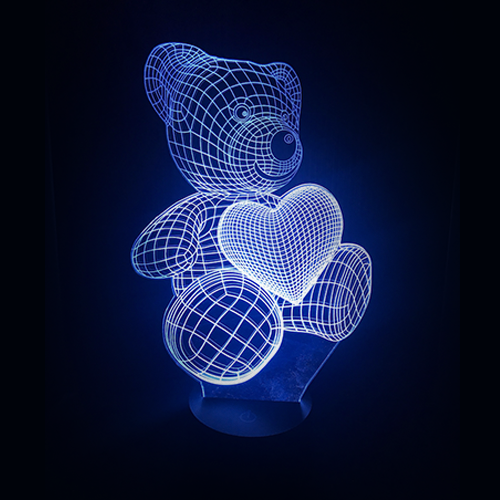 Bear Heart LED Night Light/Lamp