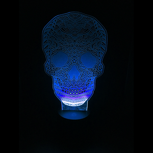 Creepy Calavera Skull LED Night Light/Lamp
