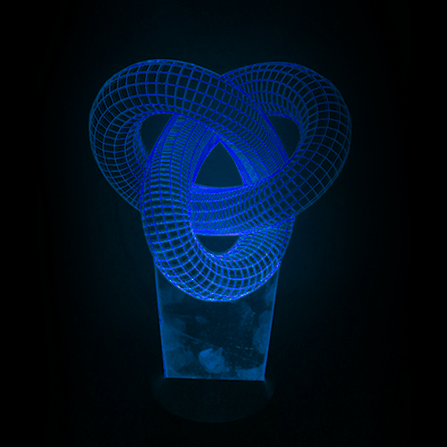 Fractal Double Knot LED Night Light/Lamp