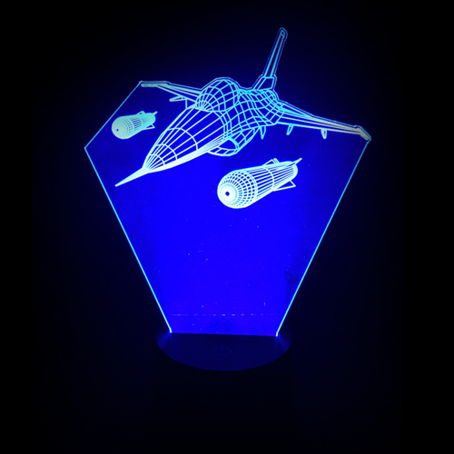 Military Fighter Jet Airplane LED Night Light/Lamp
