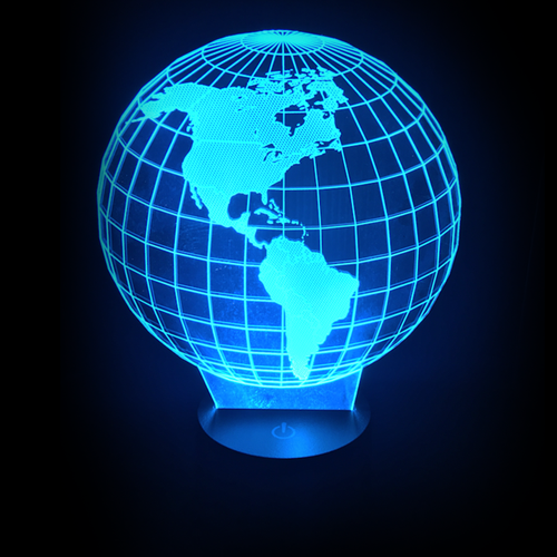 Earth Globe LED Night Light/Lamp