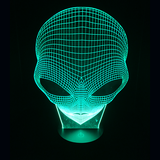Alien Head Spooky LED Night Light/Lamp