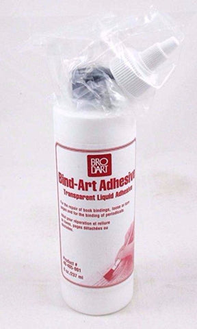Brodart Acid Free Bind-Art Adhesive - 8 ounces - Manaus Books site