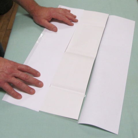 "Fold-On Archival Pre-Cut Sheets 8 1/2"" x 18 1/2"" - Manaus Books site"