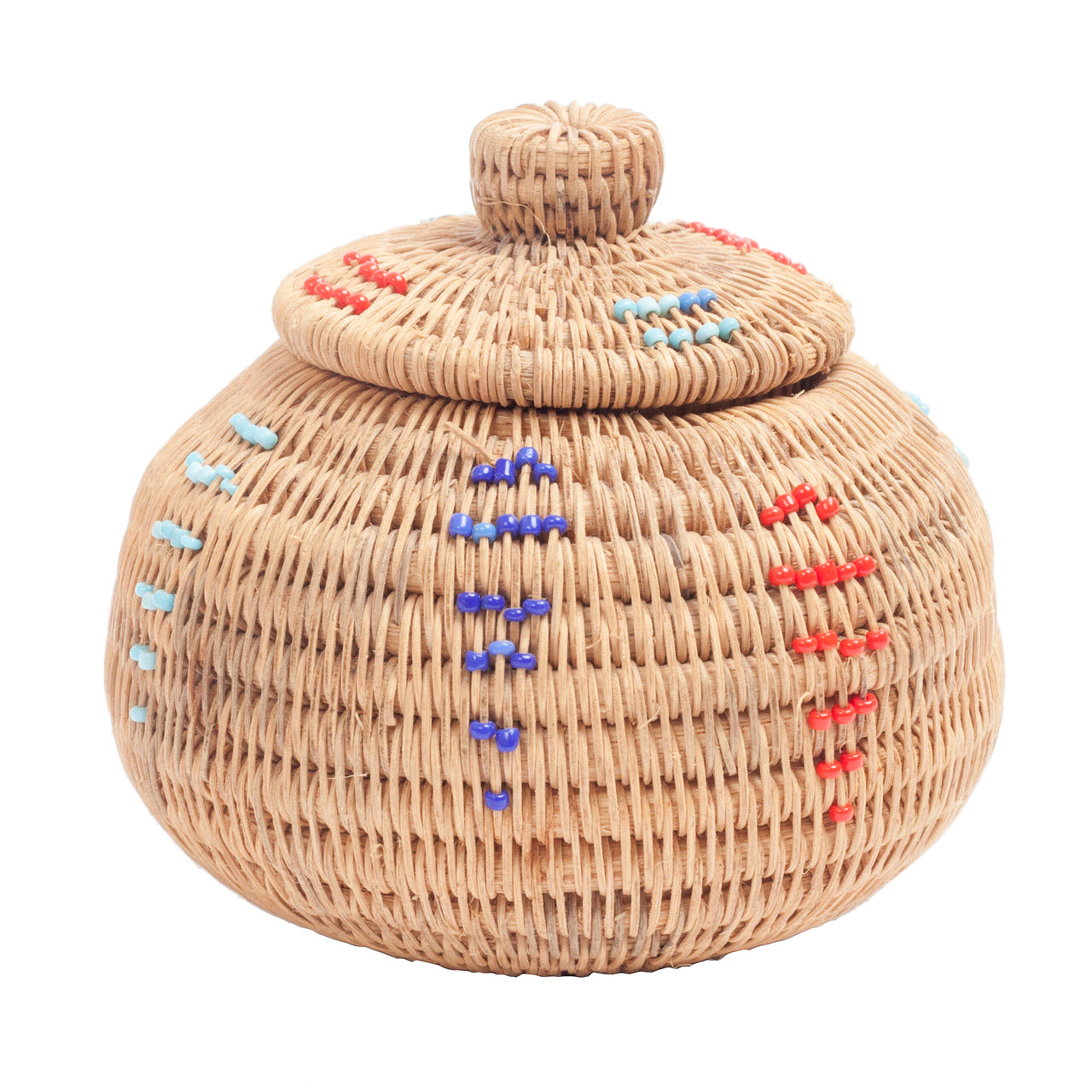 Tiny Beaded Basket