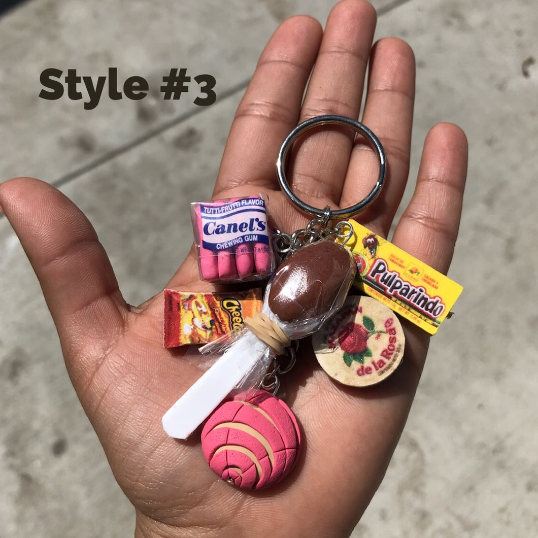 6 Charm Mexican Goodies Keychain