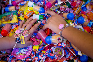 Mexican Goodies Bracelet Four Charms